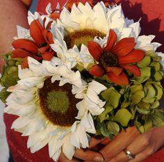 Silk Bridal Bouquet Sunflower Bouquet Country Wedding Bouquet by SilkFlowersByJean on Etsy, $60.00