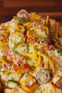 Jalapeño Popper Potato Salad A spicy take on a summer classic. Get the recipe from Delish. Pastas Recipes, Side Dish Recipes, Potato Recipes, Cooking Recipes, Potato Ideas, Recipies, Jalapeno Recipes, Potato Dishes, Chili Recipes