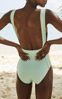 This **Three Graces London** Attila Strap Detail Swimsuit features high leg style with square front neckline and inserted strap detail. Cute Bathing Suits, Cute Swimsuits, Monokini Swimsuits, Women Swimsuits, Fashion Mode, Moda Fitness, Mode Inspiration, Swimwear Fashion, Bikini Fashion