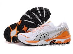 Womens Puma Vectana Running White Gray Orange For Sale 10b86d107