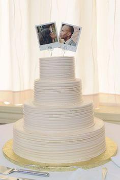 Polaroid Wedding Cake Topper, Polaroid Topper, Porter and Reel Photography, Jill Parmely