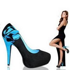 Mancienne 2012 New Arrival Women Rose Flower Decor High Heel Pumps Shoes/Ballroom Shoes/Party Pumps