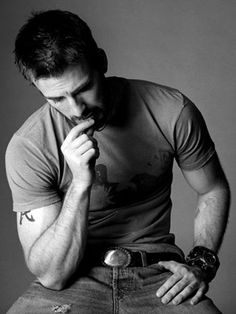 Without facing the camera Chris Evans was still captured handsomely.
