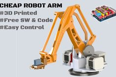 Robot Arm Plus (Stepper Motor Used) : 11 Steps - Instructables Robotics Engineering, Robotics Projects, Diy Robot, Robot Arm, 3d Printed Robot, Robot Programming, 3d Mobile, 3d Printing Diy, Electronic Parts