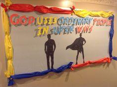 Super Hero Bulletin Board