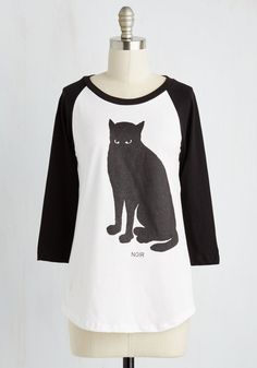Francophile Feline Top. If thoughts of Paris make you purr, then this FluffyCo tee is pour vous! #multi #modcloth