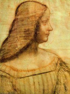 Leonardo Da Vinci-Portrait de Isabella d'Este