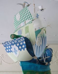 The Bonnie Prince Billy by Ann Wood Bonnie Prince Billy, Pirate Bedroom, Flying Ship, Paper Art, Paper Crafts, Ann Wood, The Bonnie, Paper Ship, The Little Prince