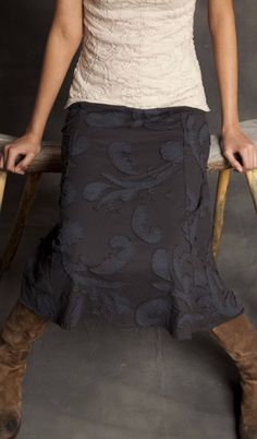 Paisley Skirt - hand sewn applique