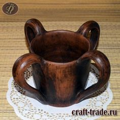 Братинка - трапезная чаша, русские традиции - гончарная посуда в интернет магазине Рукоделец