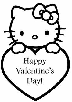 Hello Kitty Valentine Coloring Pages - News - Bubblews
