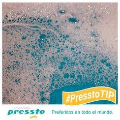 #PresstoTip Añadir mucha cantidad de detergente podría estropear la ropa dejándole manchas.