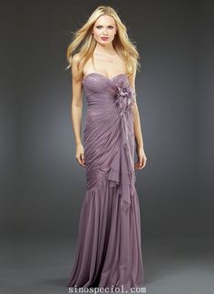 Elegant Mermaid/Trumpe Sweetheart Neckline Chiffon Prom Dress