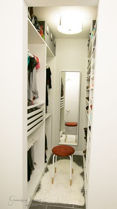 Bedroom closet design layout storage new Ideas Walk In Closet Small, Walk In Closet Design, Bedroom Closet Design, Master Bedroom Closet, Small Closets, Home Room Design, Closet Designs, Bedroom Decor, Bedroom Small