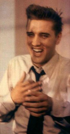 Elvis had one of the biggest and most contagious laughs                                                                                                                                                     More