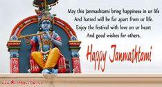 jai Shri Radhey Krishna Janmashtami Images With Wishes In English Janmashtami Greetings, Janmashtami Wishes, Happy Janmashtami, Krishna Janmashtami, Janmashtami Images, Lord Krishna, English, Love, Words