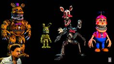 Five Nights at Freddy's | ALL JUMPSCARES 1-4 | Jumpscare Simulator UPDATE