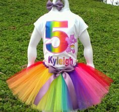 Rainbow Care Bear Tutu Set by SparklesTutus on Etsy Care Bear Party, My Little Girl, Tutu, Harajuku, Baby Kids, Rainbow, Care Bears, Trending Outfits, Celebrities