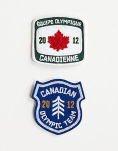 Vintage style Olympic patches.