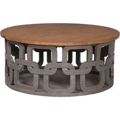 Gray Wash Round Coffee Table ($1,595) ❤ liked on Polyvore featuring home, furniture, tables, accent tables, coffee table, hand carved coffee table, mahogany coffee table, circular table, painted tables and grey wash table