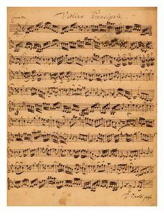 Love this. The Brandenburger Concertos, No.5 D-Dur, 1721 Giclee Print by Johann Sebastian Bach