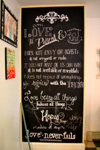 cute chalkboard wall!
