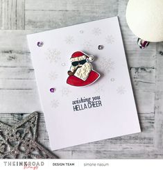 Wishing you Hella Cheer! - The Ink Road Holiday Cards, Christmas Cards, Cool Cards, Handmade Christmas, Are You The One, I Card, Wish, Cheer, Stamps