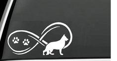 Handmade German Shepherd Infinity Decal