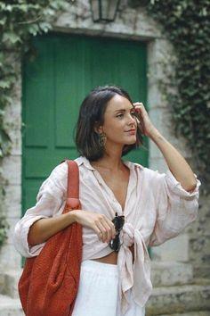 Fondation Claude Monet - By Looks Street Style, Looks Style, Style Me, Look Fashion, Fashion Beauty, Fashion Outfits, Womens Fashion, Fashion Trends, Shirt Diy