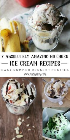 You should try one of these awesome no churn ice cream recipes! Which no churn ice cream recipe will you try first? Great summer dessert ideas. | www.mydiyenvy.com