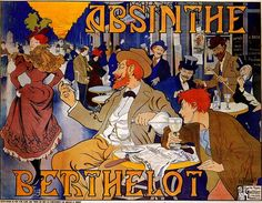 Absinthe is steeped in mystery, myth, and history. What is known for sure is that a man named Major Dubied acquired the formula in 1797 and opened the first absinthe distillery in Switzerland called Dubied Pèr Retro Poster, Poster Vintage, Pub Vintage, Vintage Art, French Vintage, Vintage Food, Vintage Labels, Unique Vintage, Deviant Art