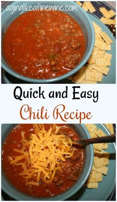 Nothing is better than a bowl of warm chili on a cold winter day and this recipe is so easy to make you'll love it!