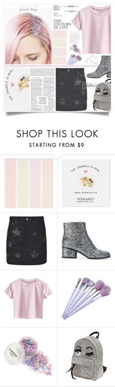 """Sparkling unicorn"" by kerol-bartoli ❤ liked on Polyvore featuring Dogeared, Yves Saint Laurent, Marc Jacobs, Chiara Ferragni and Umbra"