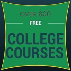 Over 800 free colleg