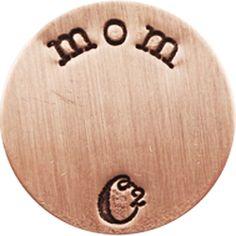 MEDIUM ROSE GOLD MOM / ROSEGOLD PLATES | ORIGAMI OWL CUSTOM JEWELRY | STAMPED PLATE