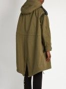 Burberry Prorsum Detachable shearling-collar oversized parka