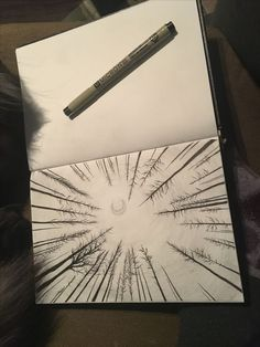Forest Perspective Drawing Ink and Graphite - . - Forest Perspective dessin encre et graphite – # Perspective You a - Graphite Drawings, Pencil Art Drawings, Art Drawings Sketches, Graphite Art, Tattoo Sketches, Sketch Art, Easy Drawings, Art Illustrations, Graphite Illustrations