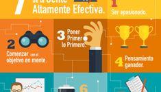 7 hábitos de la gente altamente efectiva #infografia #infographic #rrhh