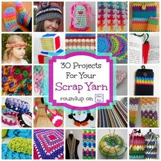 30 Free Crochet Projects for Your Scrap Yarn, roundup on Fiber Flux