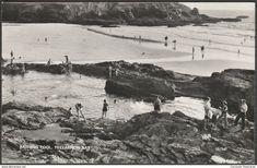 Bathing Pool, Treyarnon Bay, Cornwall, 1962 - Overland Views RP Postcard