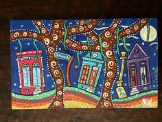 New Orleans painting Original painting folk art New Orleans New Orleans Homes, Louisiana, Painted Rocks, New Art, Folk Art, Original Paintings, The Originals, Rock Painting, Unique Jewelry