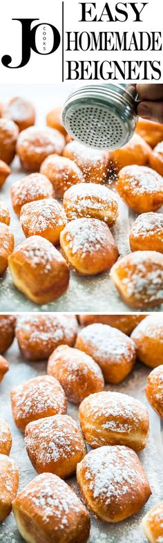 Nothing beats homemade Beignets! They're soft, pillowy, fluffy and airy, not to mention totally scrumptious. Close your eyes, take a bite and enjoy!www.jocooks.com #beignets