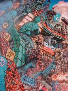木村真二 - Google 検索 Environment Design, Stage Design, Anime Scenery, Drawing Reference, Landscape Paintings, Vector Art, Concept Art, Retro Vintage, Illustration Art