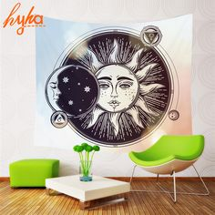 Hyha Psychedelic Celestial Indian Sun Tapestry #bedroom #livingroom #diy #handmade #best #modern #design #bohemian #beautiful #wallhanging #Colorful #tapestry #textileart #walldecoration #hippie #inspiration #decorative #interior #off #usa #flooring #office #home #decoration Colorful Tapestry, Bohemian Tapestry, Tapestry Bedroom, Wall Tapestry, Home Textile, Textile Art, Beach Towel, Psychedelic, Modern Design