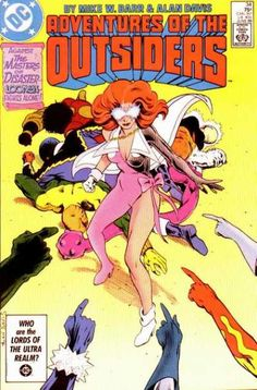Adventures of the Outsiders 34 dc comic book cover