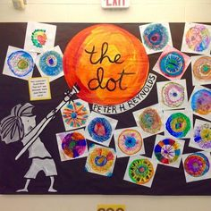 "dot day art projects Best 12 The Dot Art Project - ""Mark and see where it leads you"" leads project where 185562447133237028 Kindergarten Art Projects, Classroom Art Projects, Art Classroom, Collaborative Art Projects For Kids, Class Art Projects, Kindergarten Classroom, The Dot Book, September Art, International Dot Day"