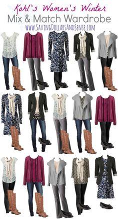 Kohl's Mix and Match Fashion Wardrobe