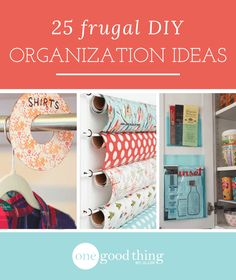 Organizing your home doesn't have to cost a lot! With these simple and frugal organizing ideas, you'll get the job done on a dime!