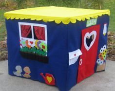 Card Table Playhouse Basic Bungalow Crystal by ThePlayhouseKid