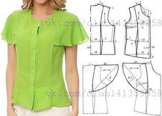 Блузка с рукавами крылышками - моделирование. #простыевыкройки #простыевещи #шитье #блузка #блуза #моделирование